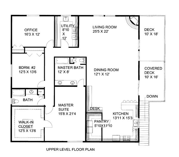 5 Car Garage Apartment Plan Number 86554 with 2 Bed, 3