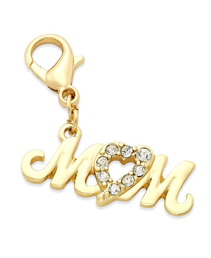 Thalia Sodi Gold-Tone Pave Mom Clip-On Charm, Only at Macy's