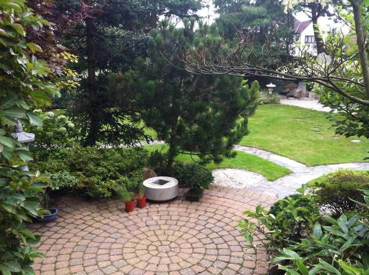 Everything in this garden has been designed and built by Edward - look at the 'journey' pathways and intricate stone work.