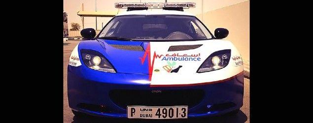 Dubai's paramedics have added a Lotus sports car to their emergency fleet. (Yahoo Autos)