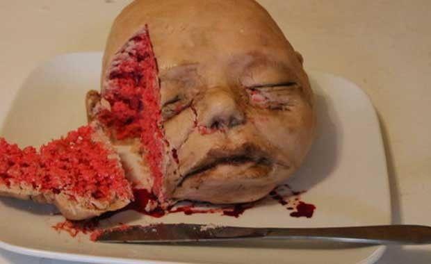 Bebek Kafası Modelli Pasta