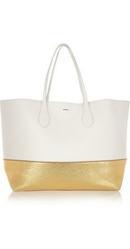 Rochas Two-tone textured-leather tote