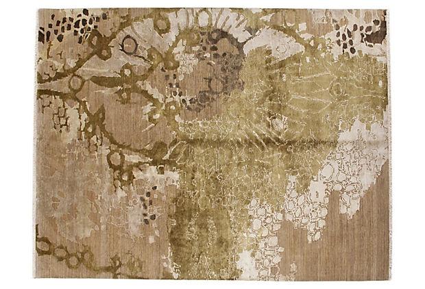 8'x10' Jenny Jones Meryl Rug, Wheat/Moss on OneKingsLane.com