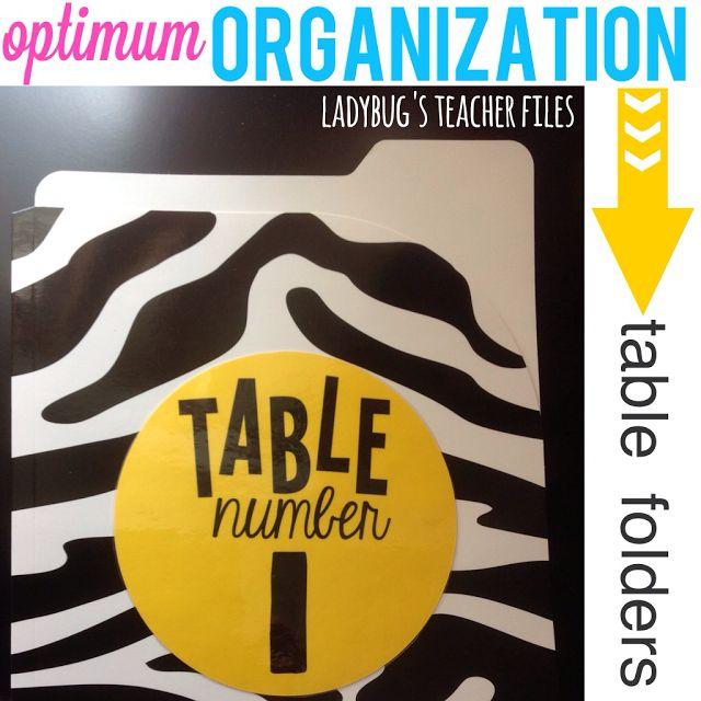 Ladybug's Teacher Files: Optimum Organization: Table Folders