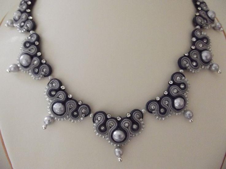 Evening Jewelry. Soutache Jewelry. Necklace. $355.00, via Etsy.
