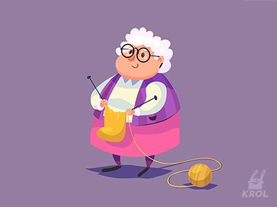 Funny grandma by Denis Krol Krasavchikov