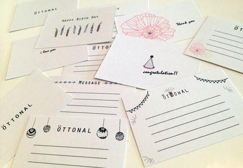 メッセージカード | OTTONAL
