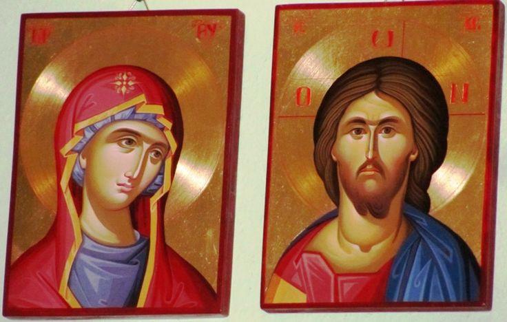 Icoana Maica Domnului si Mantuitorul Iisus Hristos