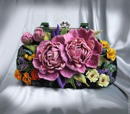 """Женские сумки ручной работы. Ярмарка Мастеров - ручная работа. Купить сумочка """"Мy joy"""". Handmade. Розовый, цветы"""