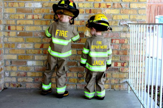 Personalized Firefighter Toddler Child Full by FullyInvolvedStch