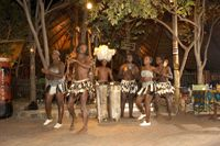 VIC FALLS Boma Dinner $53 with transfers, subtract 10 w/o them.