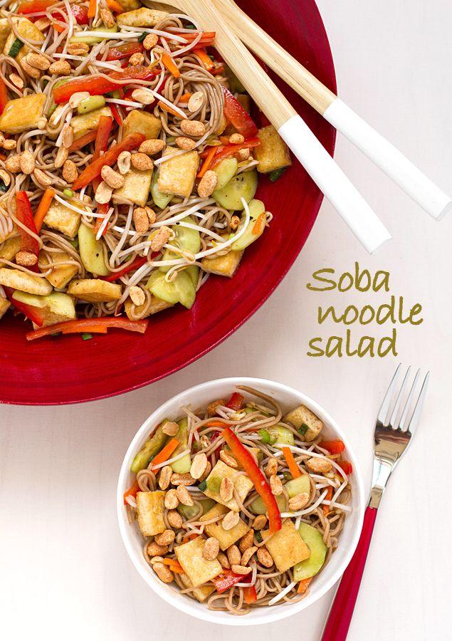 salad soba noodles fresh vegetables soba noodle cold soba noodle salad ...