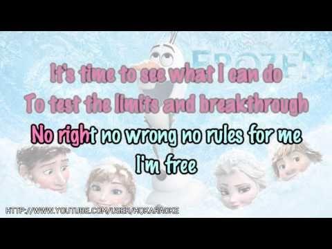 """Idina Menzel - Let It Go (from """"Frozen"""") [Karaoke / Instrumental] - YouTube"""