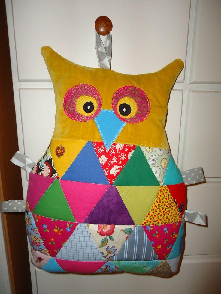owl sowa patchwork