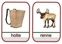 imagier de Noël hotte et renne