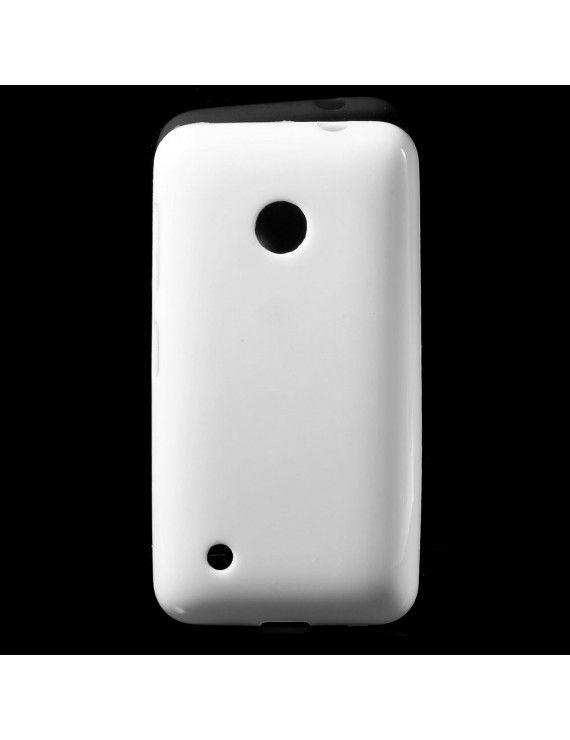 Γυαλιστερή Θήκη Σιλικόνης TPU για Nokia Lumia 530 RM-1017 RM-1019 - Λευκό