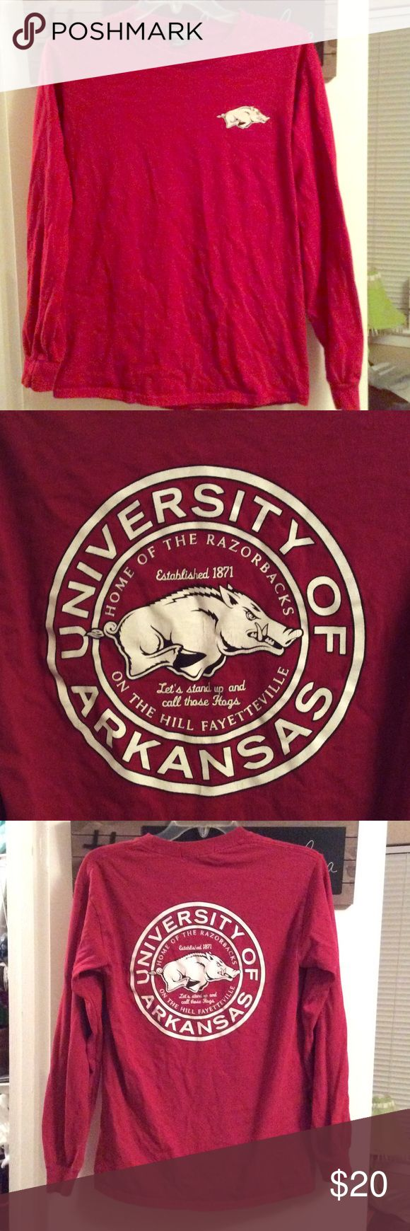 Arkansas Razorback shirt One of my favorite shirts. Sadly, too small for me now. Excellent, like new condition. houndstooth clothing company  Tops Tees - Long Sleeve
