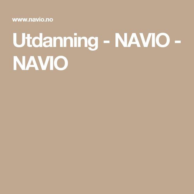 Utdanning - NAVIO - NAVIO