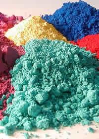 piles of pigment