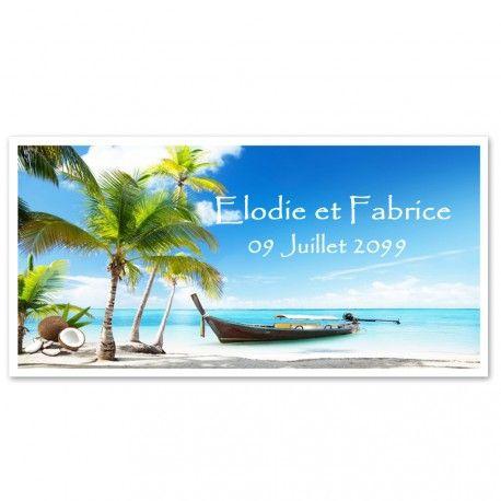 Faire-part thème île, exotique sur decorations-pour-mon-mariage.fr