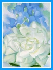 Georgia O'Keefe: Larkspur, White Roses, Georgia O Keeffe, Okeeffe, Fine Art, Flower
