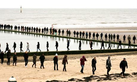 Hamish Fulton's Walk 2: Margate Sands: 'Hundreds of individuals, and at the same time one line, a single body: it's a walking definition of ...