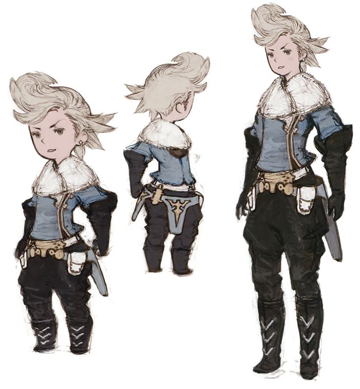 Ringabel Concepts from Bravely Default (Reference: This is pretty much a perfect representation of the difference in look between Logos and Lo--so not much different at all in the beginning.