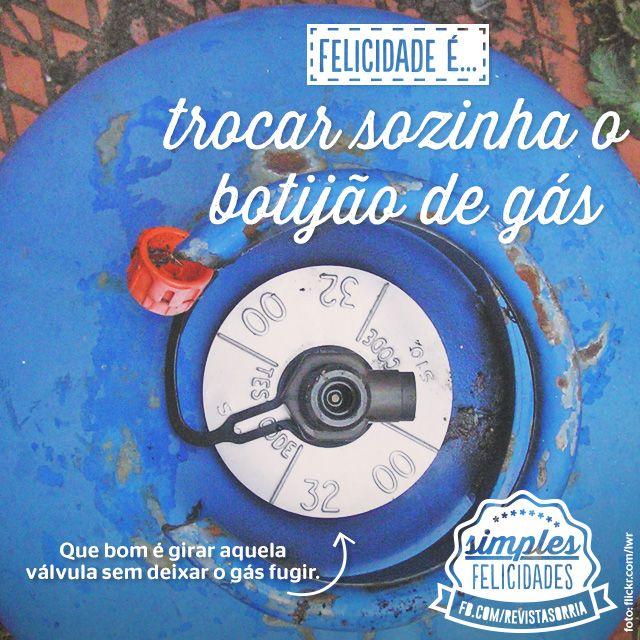 Acompanhe essa e outras séries da Sorria em www.facebook.com/... #revistasorria #simplesfelicidades #felicidades #trocar #botijao #gas