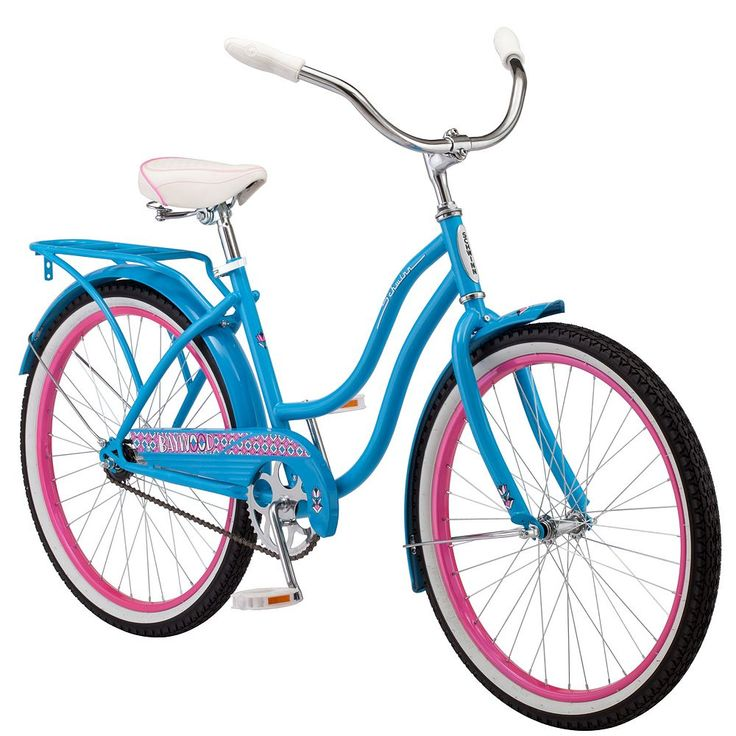 Girls Schwinn Baywood 24-Inch Cruiser Bike, Blue