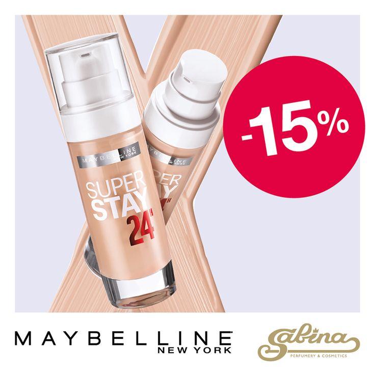 #Maybelline #SuperStay 24H - 17.6 AZN (endirimlə: 15 AZN)  Стойкий тональный крем для свежести макияжа на весь день. Уникальная технология Micro-Flex и стойкие «пигменты свежести» позволяют тону лица выглядеть свежим и отдохнувшим в течение всего дня.