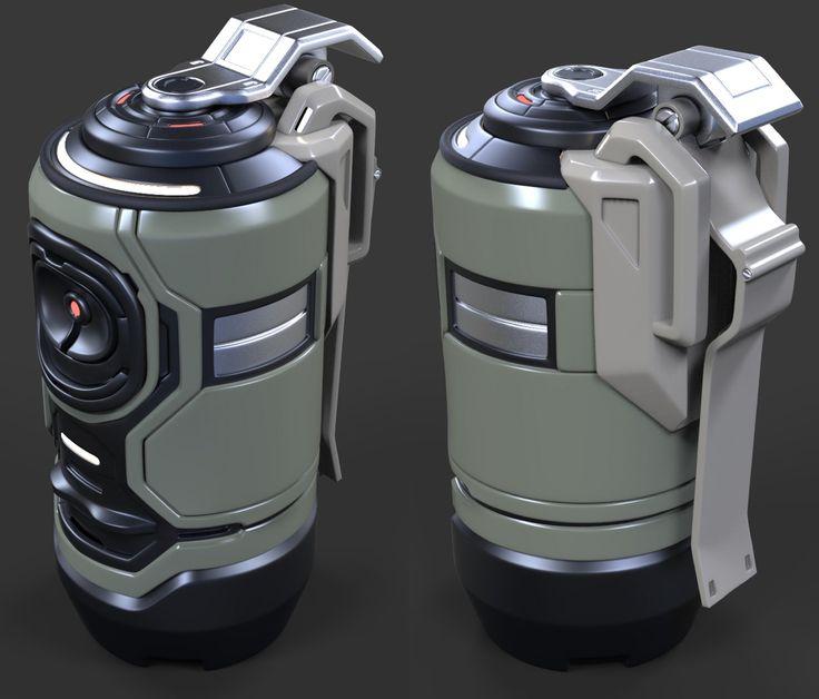 ArtStation - Sci fi Grenade wip, David de Leon                                                                                                                                                      More