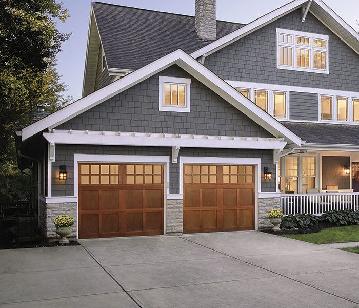 garage door color ideas for orangebrick house - 25 Best Ideas about Garage Exterior on Pinterest