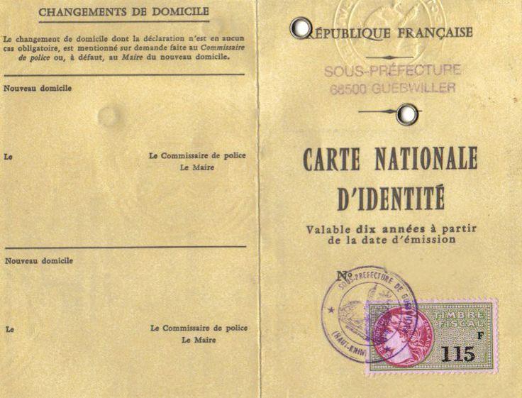 ancienne carte d'identité