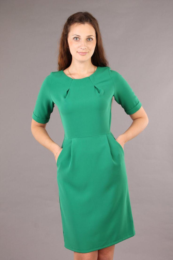 Повседневное платье зеленого цвета. Купить платье в интернет ...