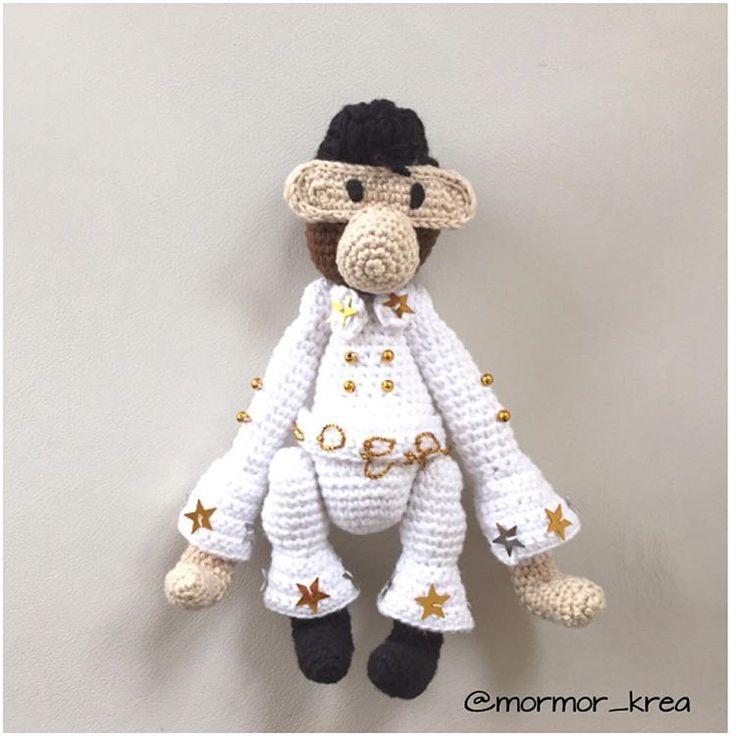 Elvis er simpelthen blevet så god #mormorshæklerier #hækle #hæklet #hækling #crochet #crocheting - mormor_krea