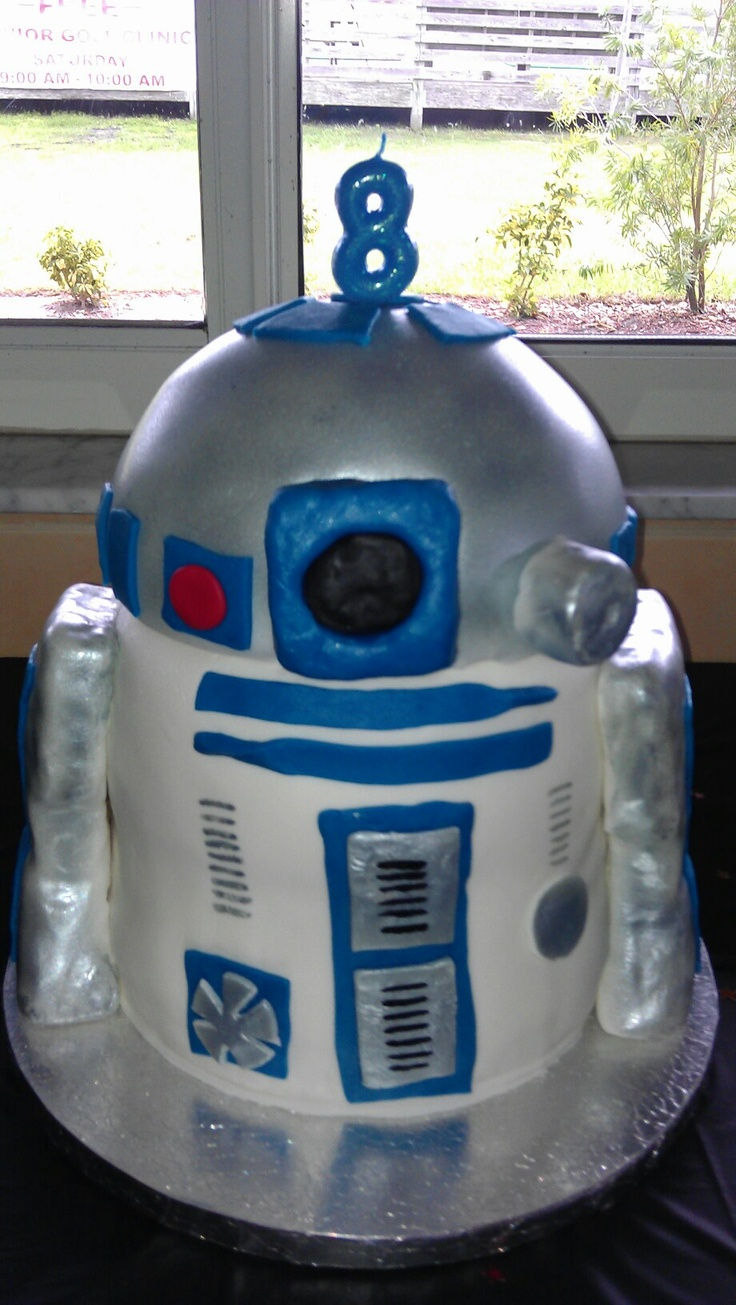 My son's awesome R2D2 birthday cake last year. Coolest cake ever! :)