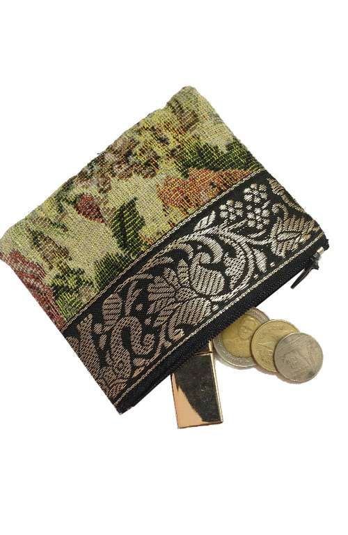 A unique one of a kind elephant print coin purse handmade in Thailand. #offbeatcuts