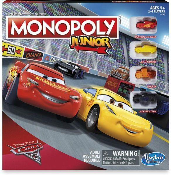 CARS 3 MONOPOLY JUNIOR