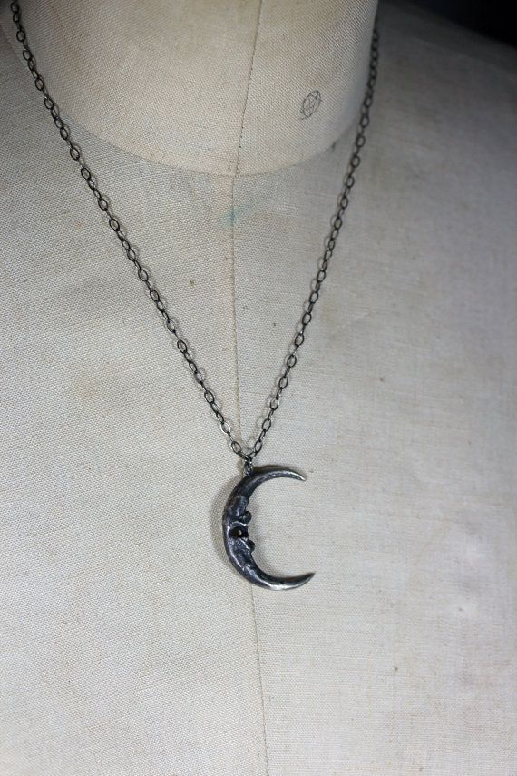 owl moon. owl talon crescent necklace. by BloodMilk on Etsy