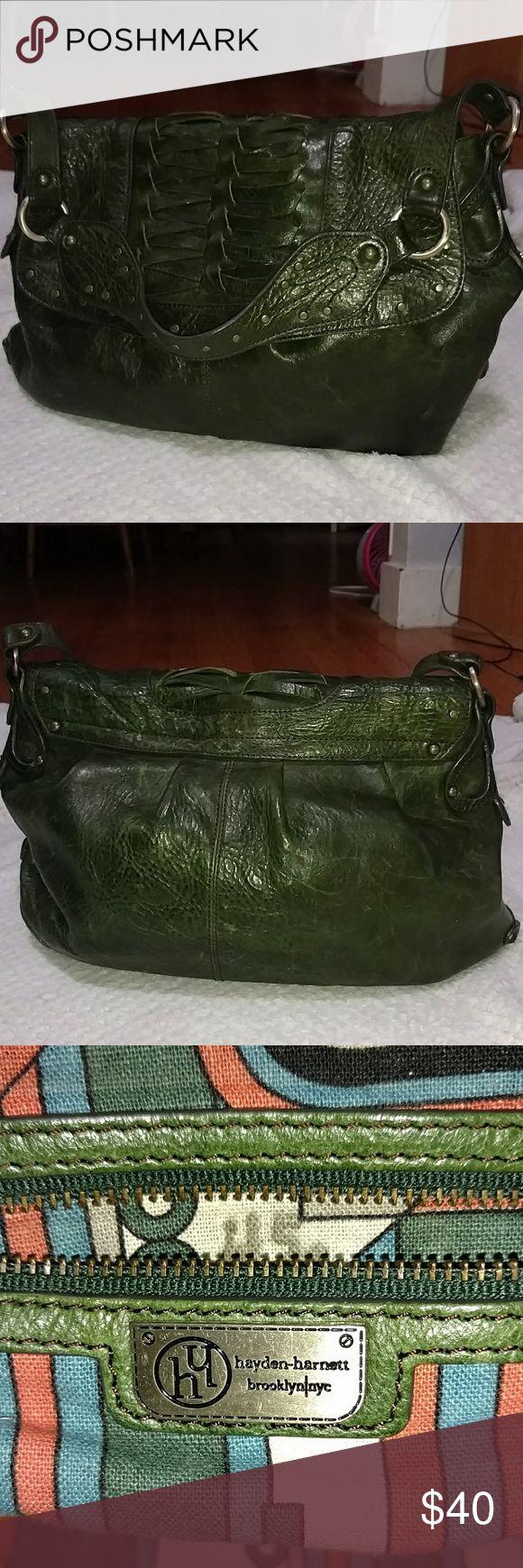 Hayden-Harnett Dark Green Leather Handbag Hayden-Harnett Beautiful All 100 % Leather Handbag.  Magnetic Closure. Hayden-Harnett Bags Shoulder Bags