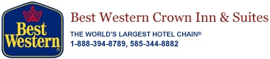 Best Western Crown Inn & Suites - Choose from a variety of room styles and deluxe amenities! Offering 71 rooms including whirlpool suites, evening Manager's Receptions, complimentary expanded hot breakfast, indoor pool, fitness center, wireless access throughout hotel and handicapped access. #GeneseeCountyNY #Hotel #Lodging #Vacation
