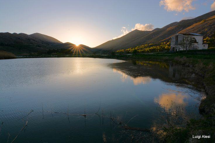 tramonto sul laghetto - Santo Stefano di Sessanio (AQ)