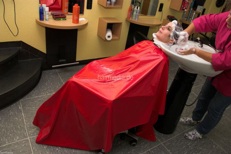 Shampoo Cape Laquer plastic Friseur/Waschumhang XXL Plastik/Lackleder a0011 rot in Beauty & Gesundheit, Spa, Kosmetik- & Friseursalon, Umhänge & Kittel | eBay