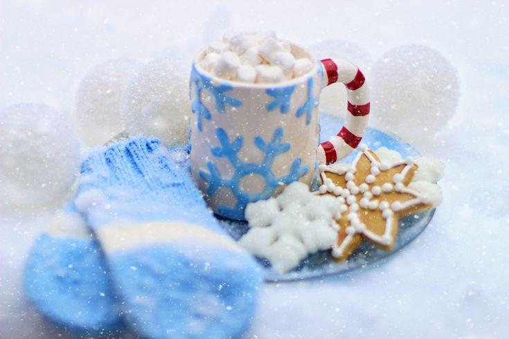 Ζεστή Σοκολάτα, Κακάο, Μπισκότο, Χειμώνα, Χιόνι