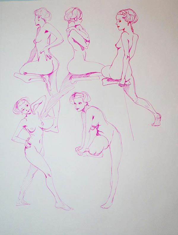 17 best images about nudes drawing on pinterest - Dessin de ponctuation ...