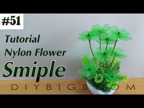 Nylon stocking flowers tutorial #50, How to make flower Bouquet for wedding - YouTube