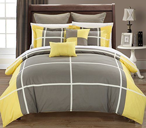 chic home 7piece regency comforter set king yellow http