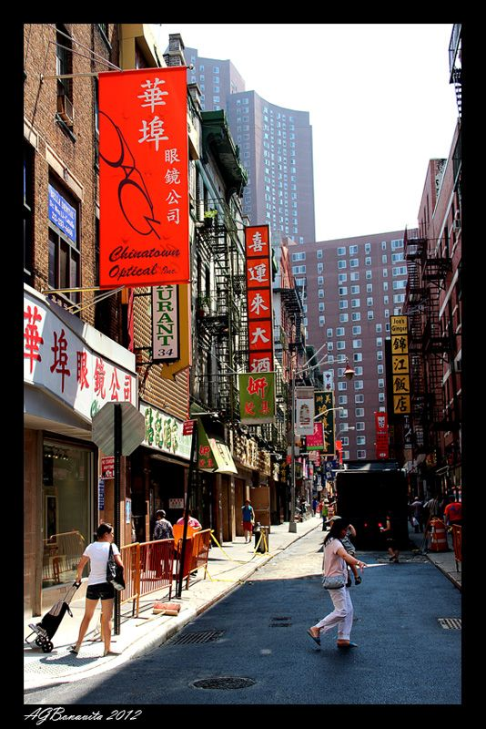 Chinatown, New York City.  Love love love to go there AND eat!