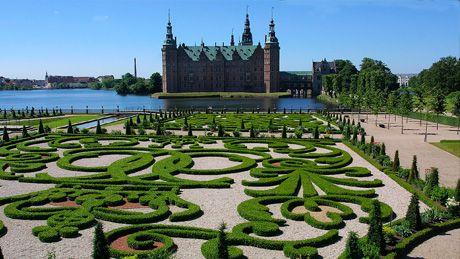 COPENHAGEN, DENMARK - castle with stunning gardens