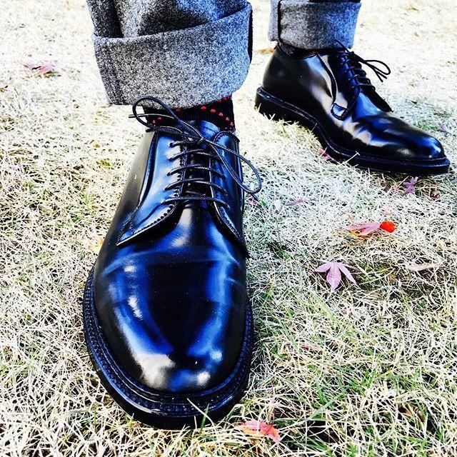 2016/12/11 14:32:30 aldenstyle Alden 9901, that's my brand-new Alden! #aldenarmy #オールデン #alden #aldenshoes #blackshell